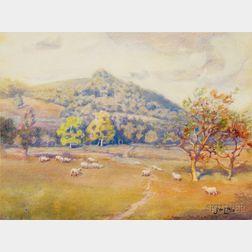 John Wesley Little (American, 1867-1923)      Lot of Four Landscape Views: In Holland