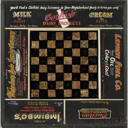 Painted Advertising Game Board