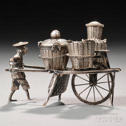 Silver Wheelbarrow Cruet Set