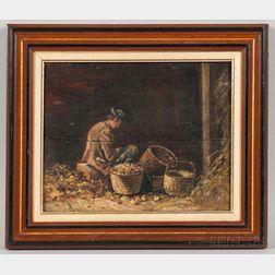 H. Tenney (Massachusetts, 19th Century)       Genre Scene Depicting a Man.