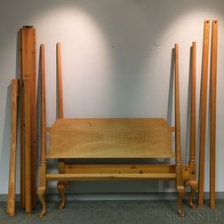 Turned Maple Four-post Canopy Bed