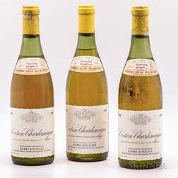 Pierre Bitouzet Corton Charlemagne 1980, 3 bottles