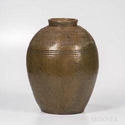 Large Southern Stoneware Jar