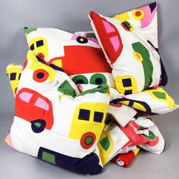 "Group of Katsuji Wakasaka for Marimekko ""Bo Boo"" Pattern Textiles"