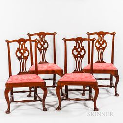 Set of Four Chippendale Dining Chairs