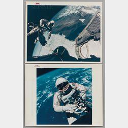 Four NASA-issued Photographs:      Edward H. White II from Gemini-Titan IV