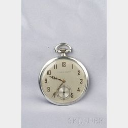 18kt White Gold Open Face Pocket Watch, Vacheron Constantin
