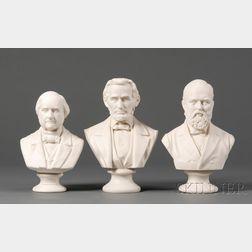 Three Parian Busts of Statesmen