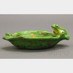 Weller Pottery Coppertone Frog Bowl