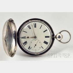 Silver Hunting Case Massey Lever Watch by George Yonge & Son