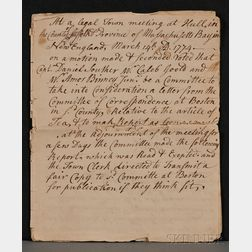 (Colonial America, Massachusetts, Stamp Act)