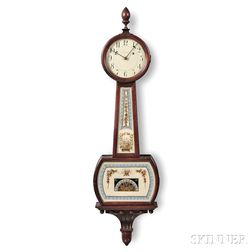 "Waltham Mahogany Patent Timepiece or ""Banjo"" Clock"