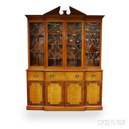 Beacon Hill Collection Georgian-style Glazed Mahogany Breakfront