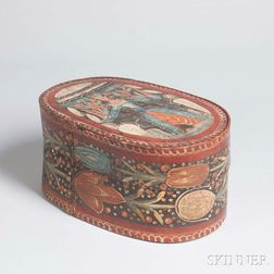 Early Paint-decorated Bride's Box