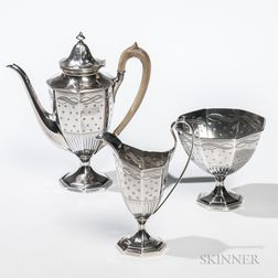 Three-piece George III/IV Sterling Silver Coffee Service