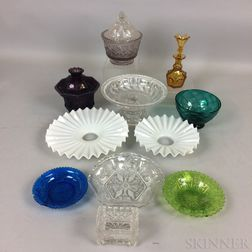 Eleven Pieces of American Glass