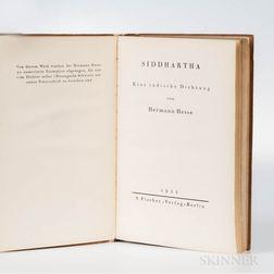 Hesse, Hermann (1871-1962) Siddhartha  , First Trade Edition.