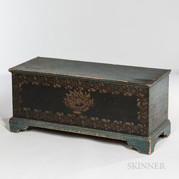 Paint-decorated Scholaire Blanket Chest