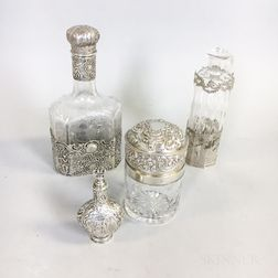 Group of Silver-mounted Glass Tableware