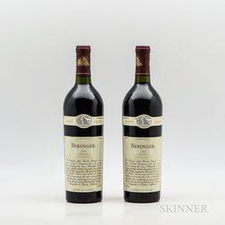 Beringer Cabernet Sauvignon Private Reserve 1995, 2 bottles