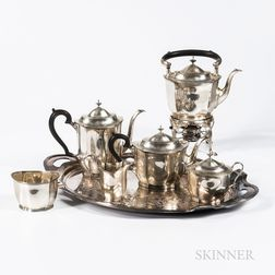 Five-piece Blackinton Sterling Silver Tea and Coffee Service