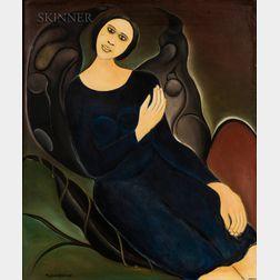 Alphonse Fritzner (Haitian, 1938-2006)    Portrait of a Woman