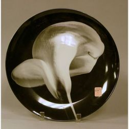 "Robert Mapplethorpe ""Calla Lily, 1984"" Transfer Decorated Porcelain Plate"