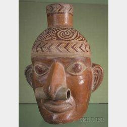 Pre-Columbian Figural Portrait Head