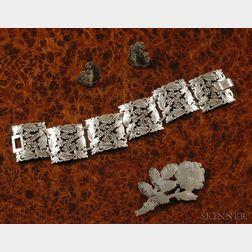 Stavre Gregor Panis, Bracelet, Earrings, and Pin