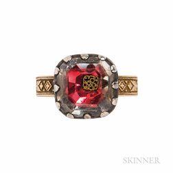 Antique Stuart Crystal Conversion Ring