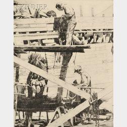Philip Kappel (American, 1901-1981)      Boat Builders, Essex.