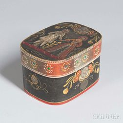 Small Polychrome Decorated Bride's Box