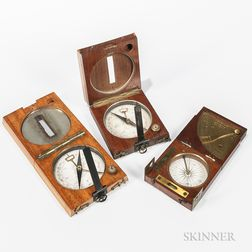 Three Cased Compass-Clinometers