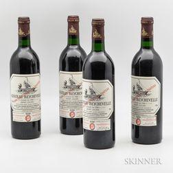 Chateau Beychevelle 1986, 4 bottles