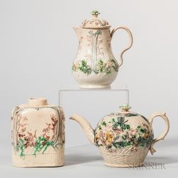 Three Staffordshire Lead-glazed Tea Wares