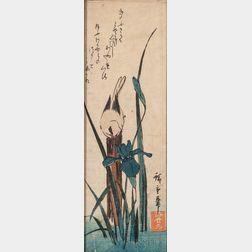Utagawa Hiroshige (1797-1858), Two Chu-tanzaku   Woodblock Prints