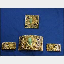 Art Nouveau 18kt Gold Placque De Cou