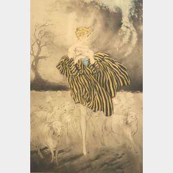Louis Icart (French, 1888-1950)  Il Pleut Bergere