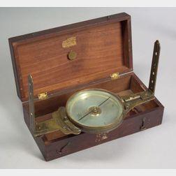 Brass Vernier Surveyor's Compass by Edmund Draper