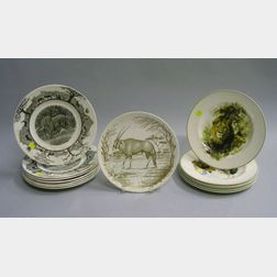 Fourteen Wedgwood Wildlife Plates