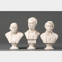 Three Parian Busts of Statesmen