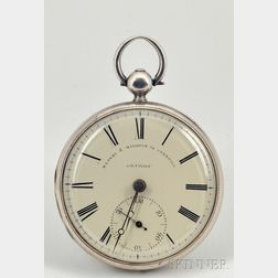Silver Consular Case Massey Lever Watch by Massey and Windham
