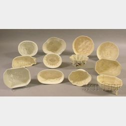 Twelve English and European Creamware Culinary Molds