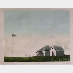 Framed Etching and Aquatint, Cape Cod