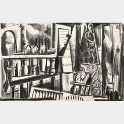 Joseph E. Norman (African American, b. 1957)      Three Works from Slum Fantasies