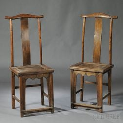 Pair of Yoke-back Side Chairs