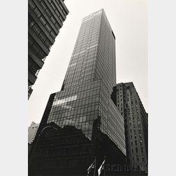 Peter Fink (American, 1907-1984)      Two Photographs: View of Skyscraper from Below