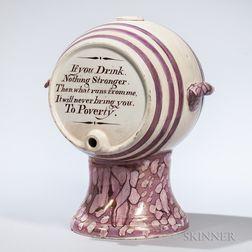 Pink Lustre Water Keg