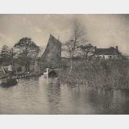 Peter Henry Emerson (British, 1856-1936)      Two Photographs: A Broadman's Cottage