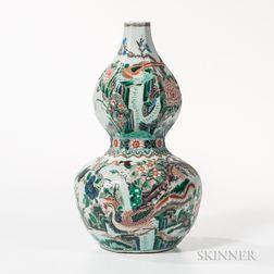 Famille Verte Double Gourd Vase